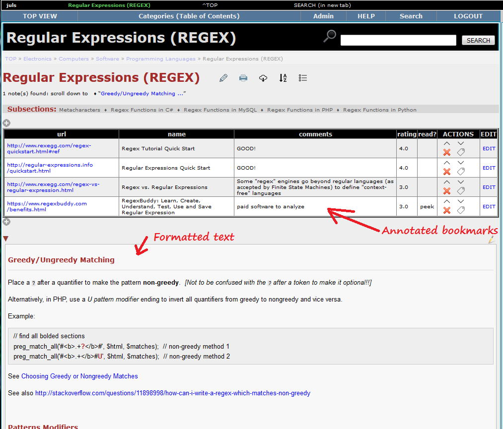 Brain Annex - Example 2 - Regular Expressions